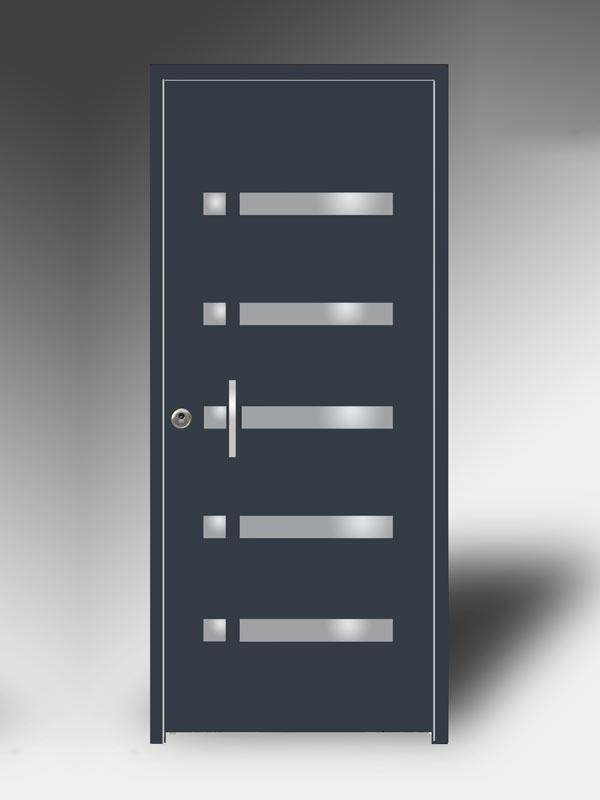 Puertas residenciales. Modelo Duo