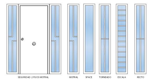 dibujo tecnico puerta residencial