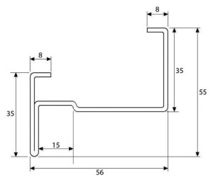dibujo tecnico puerta marco