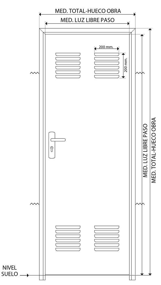 dibujo tecnico puerta ensamblada