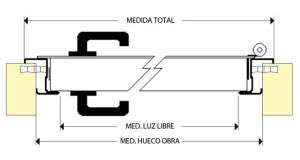 dibujo tecnico puerta top line