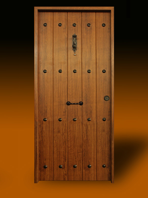 Puertas piquer puerta residencial r stica for Puerta madera rustica